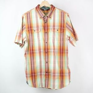 The North Face Mens Shirt Button Front Plaid
